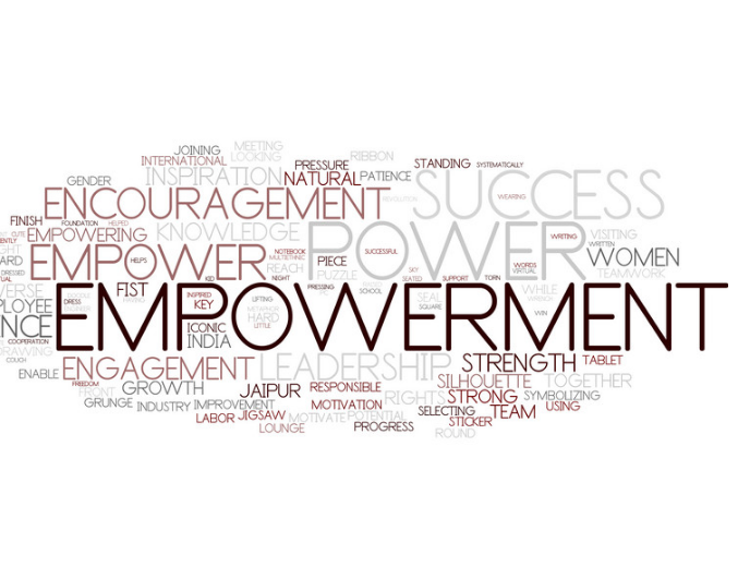 Empowerment word cloud