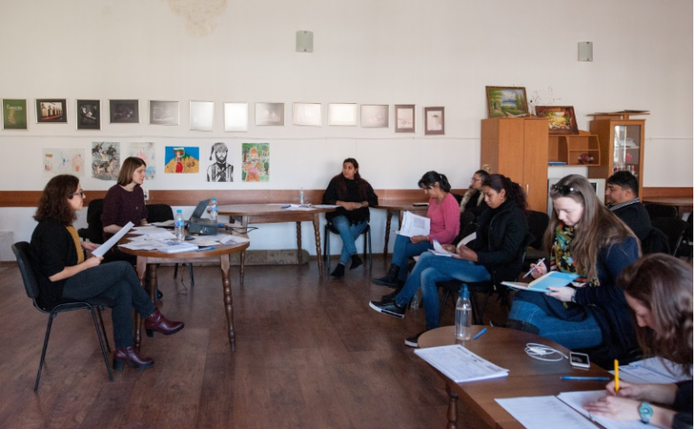 The Straldzha team in Bulgaria trains a group of facilitators to work with Roma girls